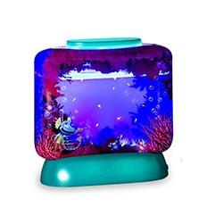 Akvárium s LED osvetlením - vodné dráčiky
