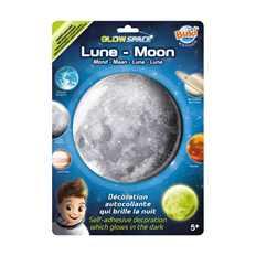 Mesiac- svetielkujúca dekorácia na stenu
