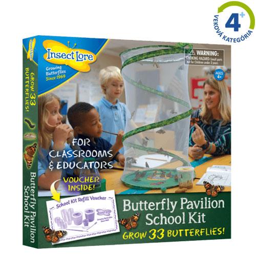 Motýlia záhrada pre školy (33 húseníc)